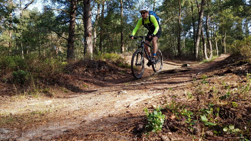 Mountainbiken op de Veluwe downhill